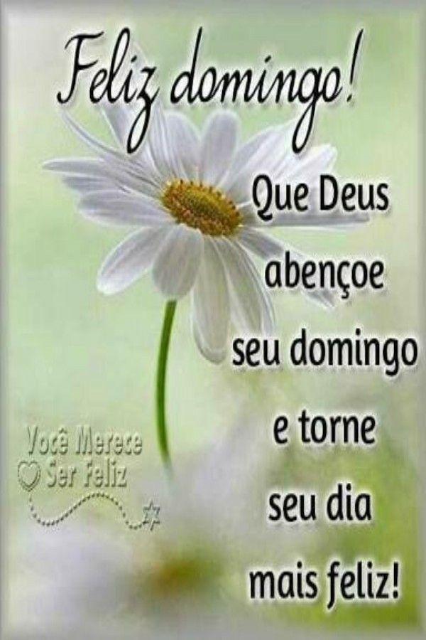 Feliz domingo abençoado por Deus