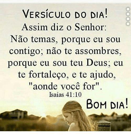 Bom dia! Deus é contigo!