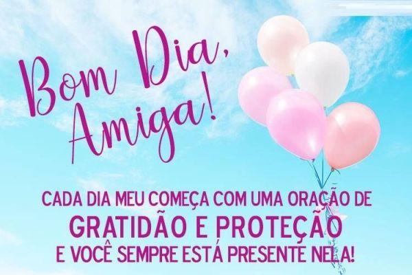 Gratidão e proteção, bom dia amiga!