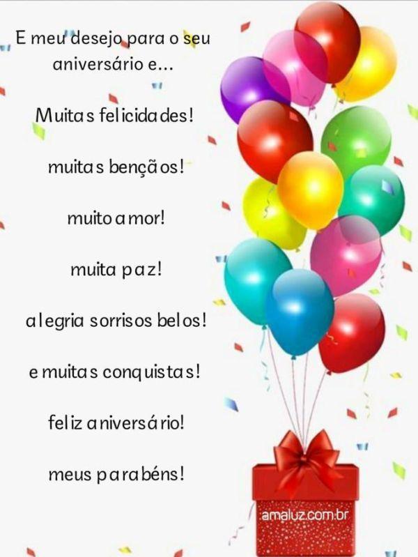 linda imagem com balões e feliz aniversário