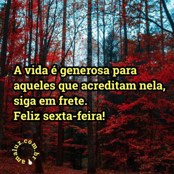 A vida é generosa para aqueles que acreditam nela, siga em frente e não desista.