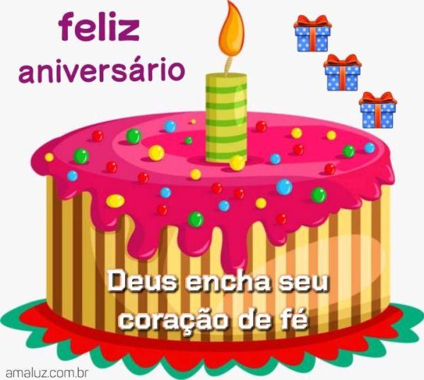 Feliz aniversário que Deus encha seus coração de fé