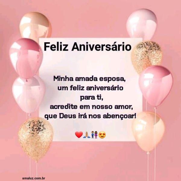 Feliz aniversário eu te amo que Deus te abençoe