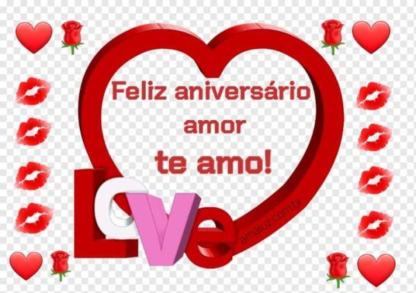 Feliz aniversário te amo