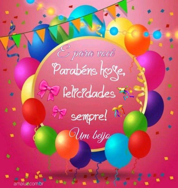 Parabéns hoje felicidade hojes