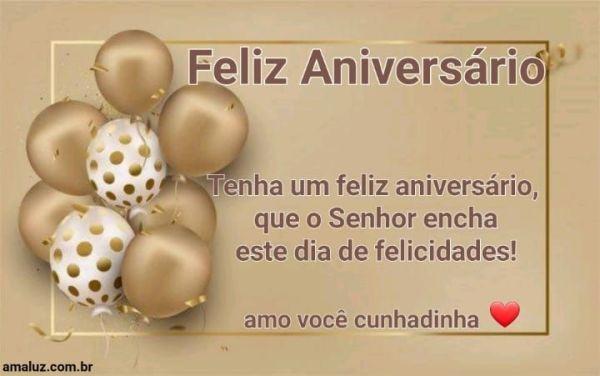 Que Deus encha sua vida de felicidades e feliz aniversário