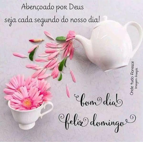 bom dia domingo abençoado por Deus