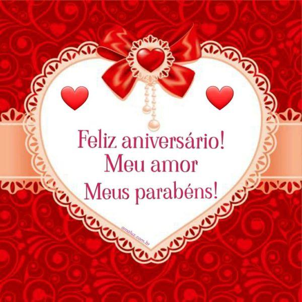 feliz aniversario meu amor parabéns