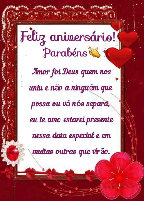 feliz aniversario amor sempre estarei presente com você
