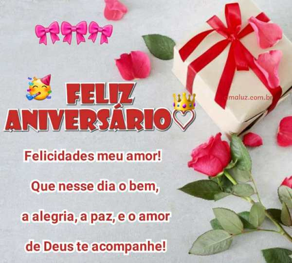 feliz aniversario felicidades meu amor