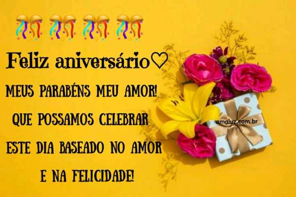 feliz aniversario meus parabens meu amor