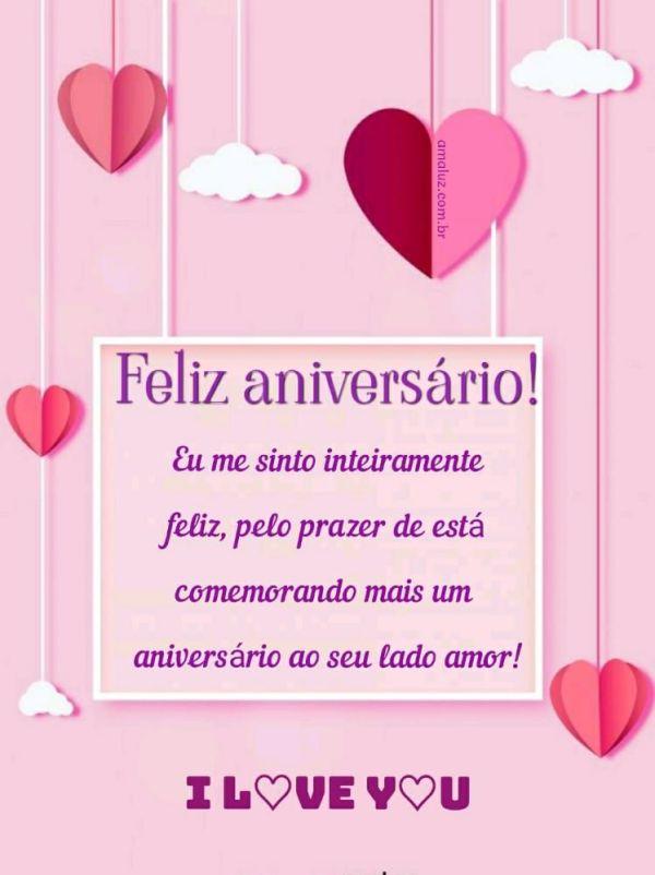 feliz aniversario te amo amor