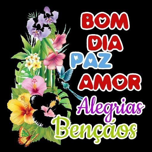 Bom dia com muito amor e bênçãos