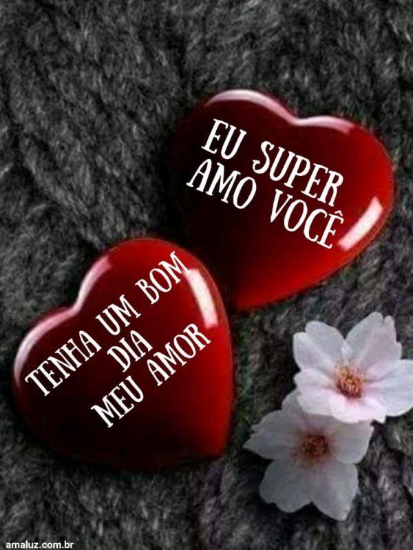 Super te amo  bom dia amor