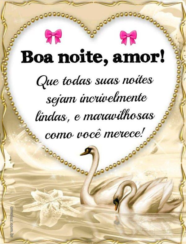 boa noite amor que sua noite seja linda e maravilhosa