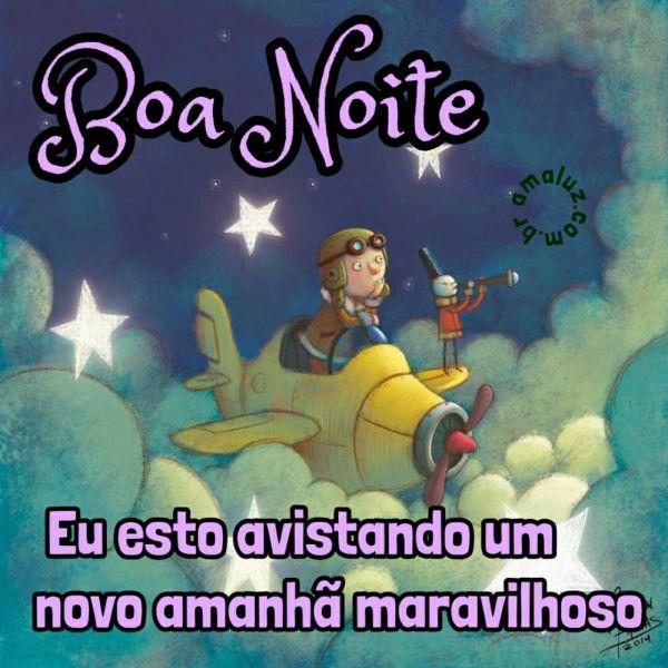 boa noite eu esto avistando um novo amanhã maravilhoso