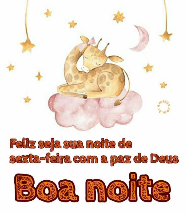 feliz seja sua noite de sexta feira com a paz de Deus