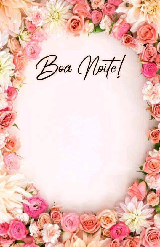 lindas flores e boa noite