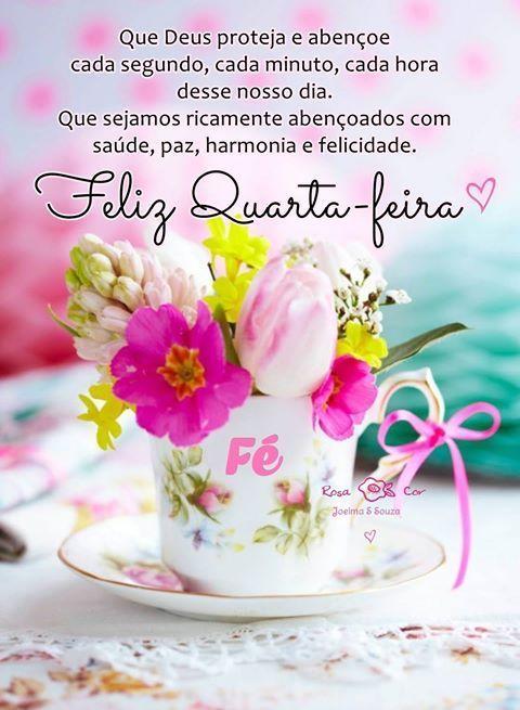Feliz quarta feira linda e maravilhosa com um lindo jarro de flores