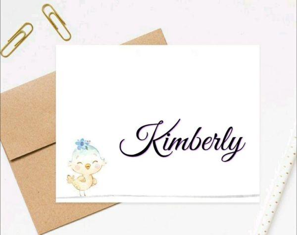 Kimberly um nome muito lindo e super combina com a nova geração