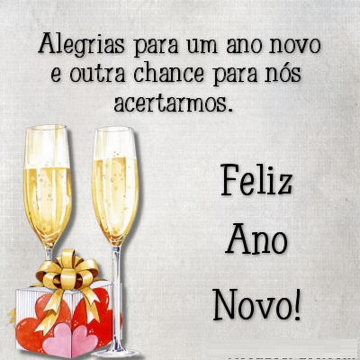 alegrias eu desejo para o nosso novo ano novo