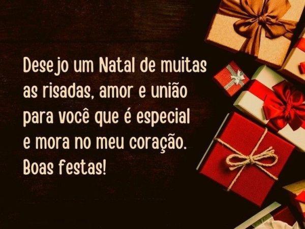 desejo um Natal de muitas as risadas