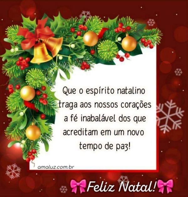 feliz natal acredite em um novo tempo de paz