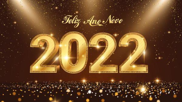 linda imagem de feliz 2022 com lindas luzes
