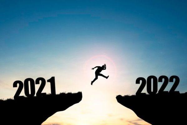 passando de 2021 para 2022 com alegria