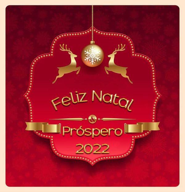 que venha um feliz natal juntamente com um novo ano prospero de 2022