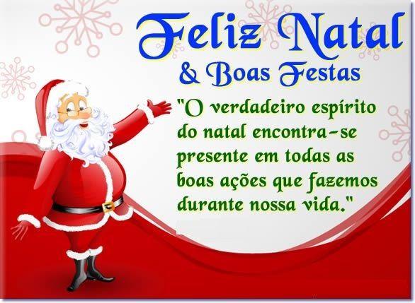 tenha um feliz natal e boas festas de comemoração