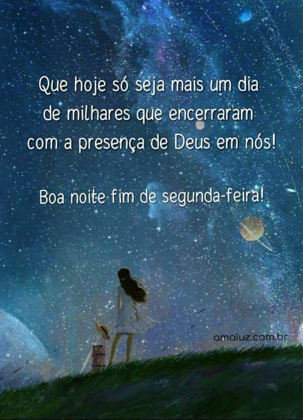 dia encerrado com a presença de Deus boa noite