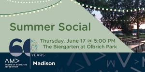 Summer Social June 17th at 5pm