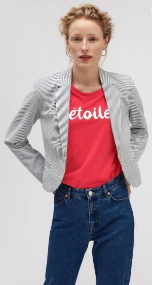 Short sleeved red t-shirt