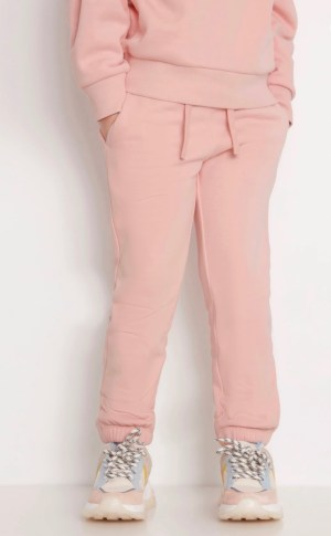 Pink Joggers with brushed lining