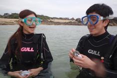 奄美体験ダイビング安心のゆっくり水面で練習