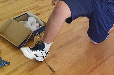 靴ひもの正しい結び方