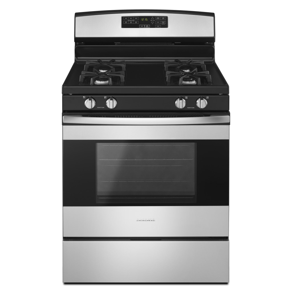kitchen stove gas sliding glass cabinet doors agr6603sfs 30 inch range with self clean option agr6603sfs30 amana