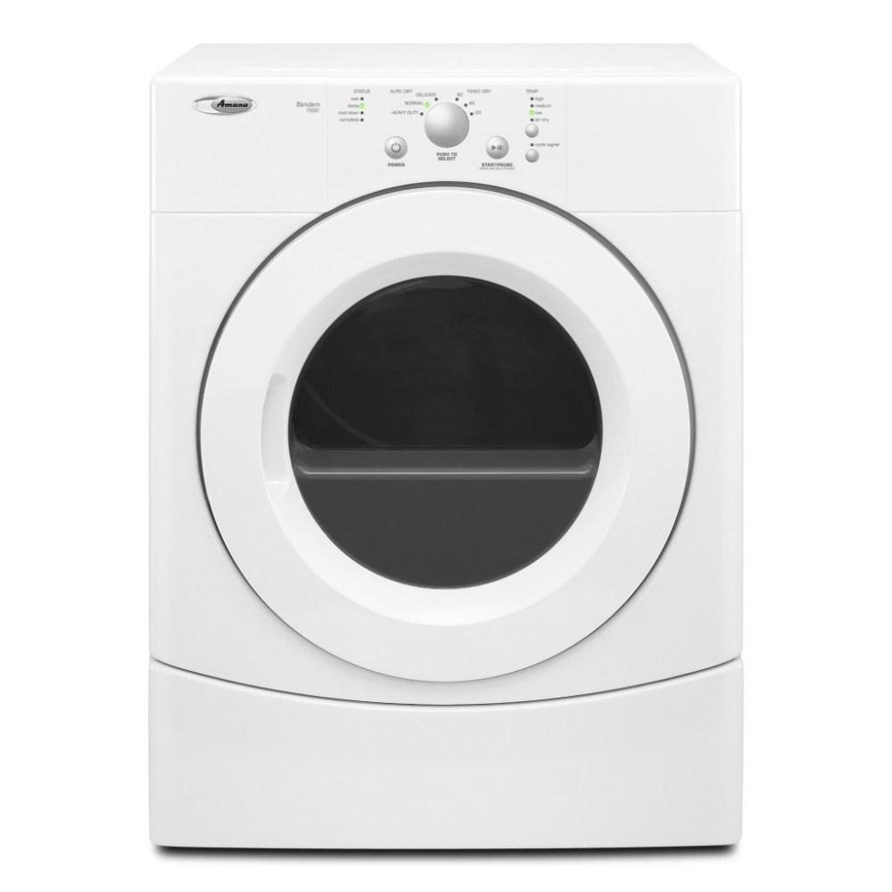 medium resolution of yned7300wwamana 6 7 cu ft super capacity electric dryer