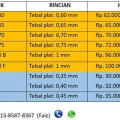 Harga Baja Ringan Per Batang Murah Perbatang Untuk Cnp Kanal C Di Amanah