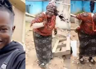 Elderly woman dancing to tesumole by Naira Marley