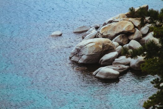 defined rock outcropping trout ambush point
