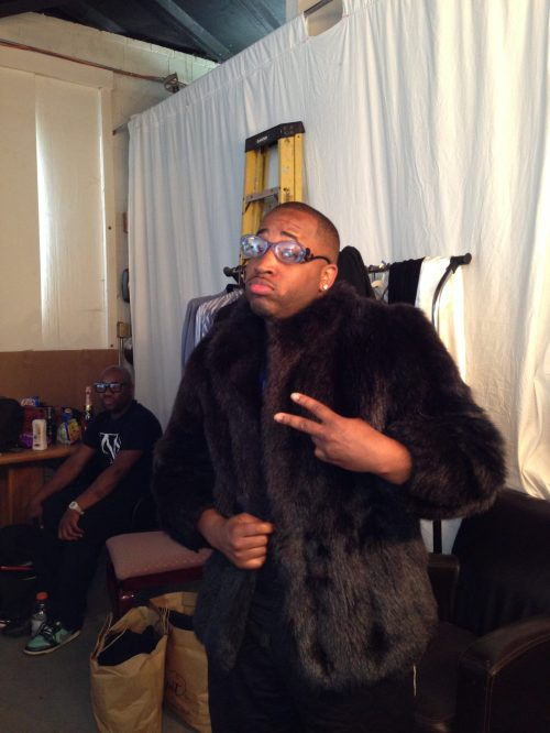 Messing around with wardrobe. Cee Lo Green, no?