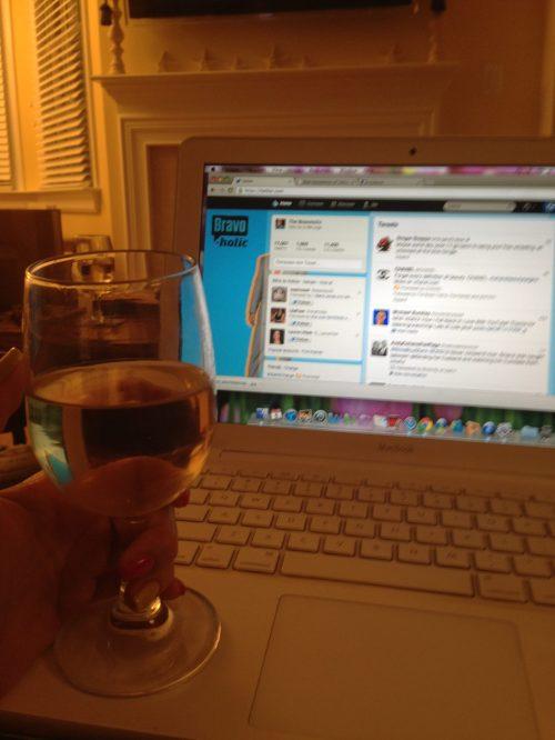 And I spent a few nights drinking & tweeting, a la Brandi Glanville.