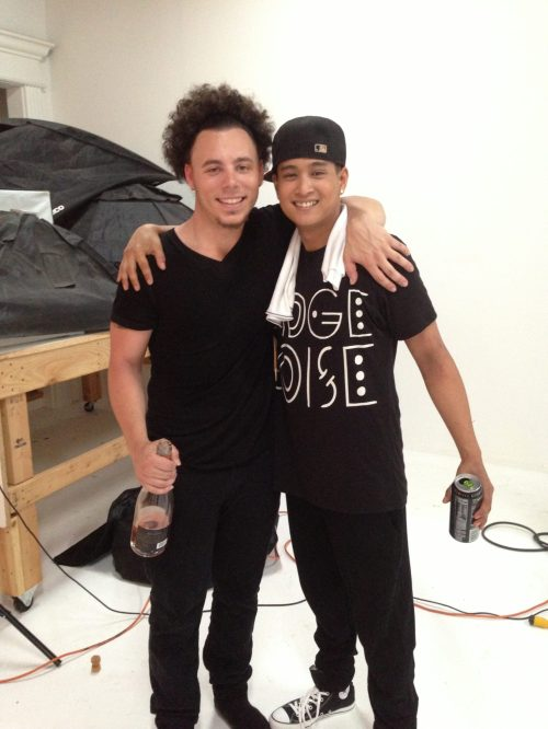 Mike & his very talented, dancer, producer, musician, friend, Ron. Ron aka ItsTheRhythym, produced the entire track!