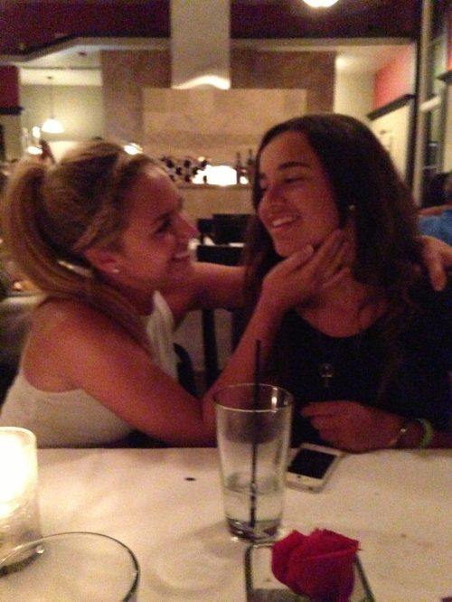 Kath and Peyton being weird at dinner. lol
