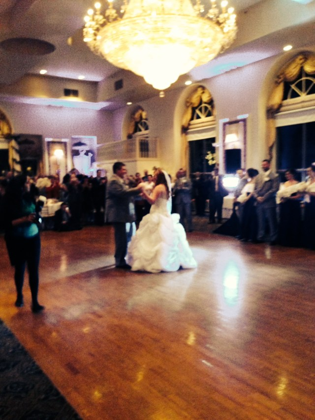 The beautiful couple's first dance :)
