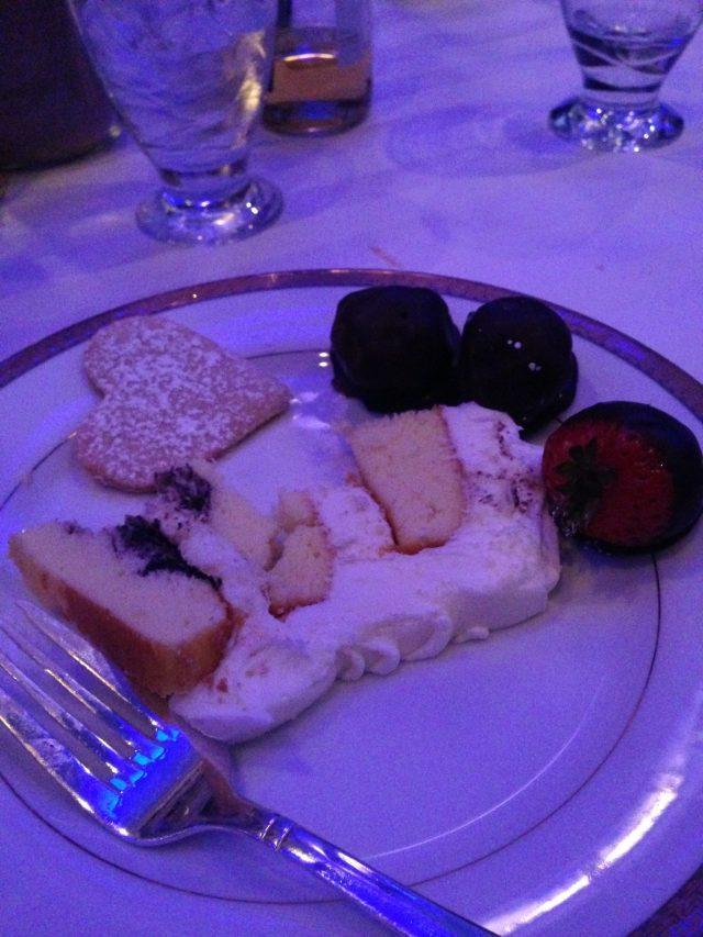 Cake, cookies, assorted truffles & chocolate covered strawberries!? So good!