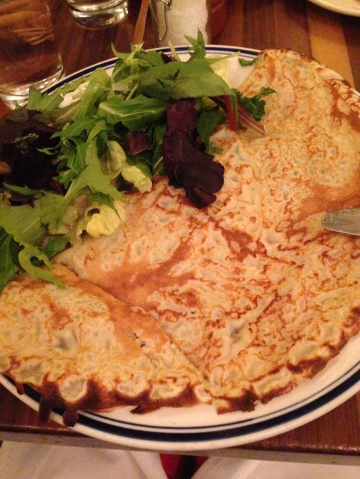 Jumbo crepe! I was excited that I was able to bring 1/2 home for another meal!