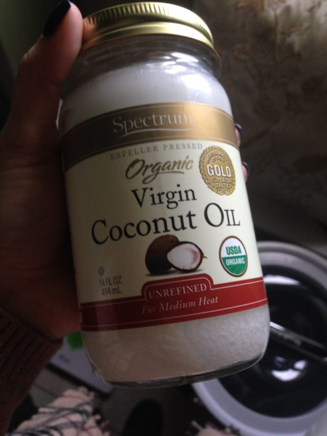 My Mom turned me onto coconut oil this month. Coconut oil on my feet, arms, legs, face, hair, everything! It's replaced half of my usual products!